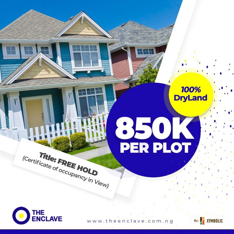 Buy Land Now at The Enclave,Epe for 850k